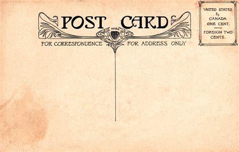 10 Retro Postcard Font Images - Vintage Postcard Back ...