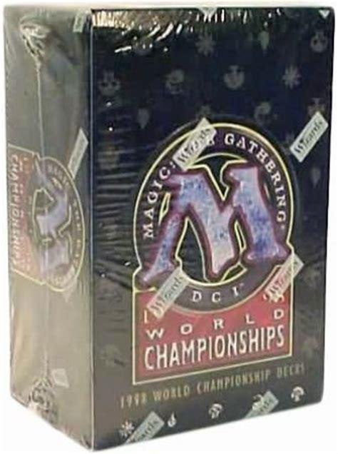 mtg world chionship decks 1998 world chionships box with 12 decks mtg magic