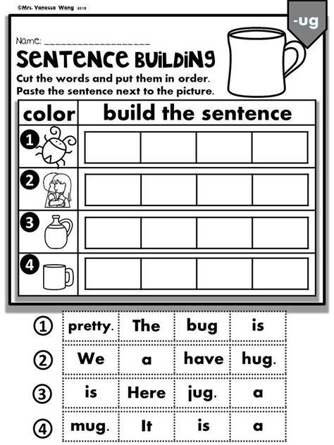 phonics cvc short vowels sentence building kindergarten