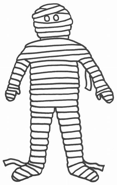 Mummy Coloring Egyptian Cartoon Clipart Pages Funny