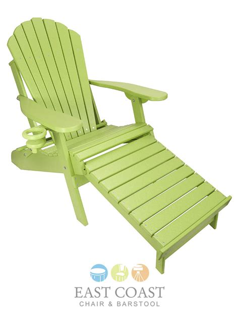 outer banks poly lumber folding adirondack chair with