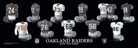 oakland raiders uniform  team history heritage