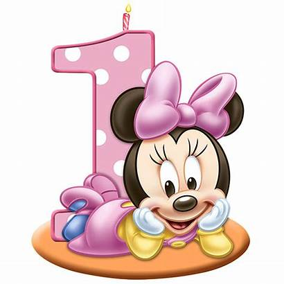 Mickey Mouse Minnie Birthday Clip Candle 1st