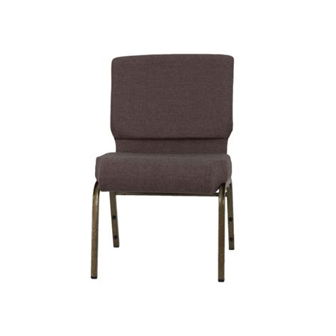hercules series 21 w stacking church chair in brown