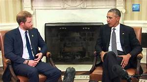 Barack Obama Meets Prince Harry at the White House - YouTube