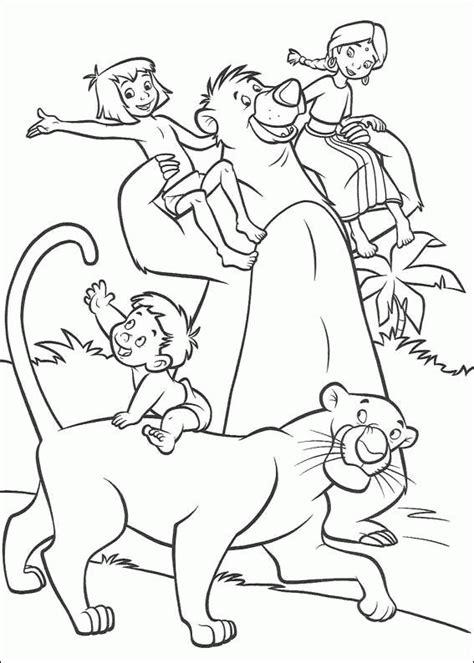 jungle book  coloring pages coloringpagesabccom