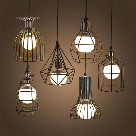 new vintage iron pendant light industrial loft retro