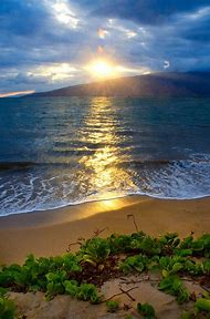 Sunset Maui Hawaii Beaches