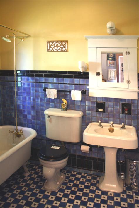 g g s blue arts crafts bathroom retro renovation