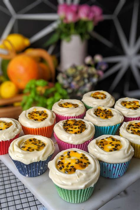Can you believe easter is coming up this sunday, where did the time go? Passion Fruit & Vanilla Cheesecake Cupcakes - My Gluten ...