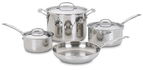 cookware steel cuisinart pots pans pot piece pan sets types amazon affordable check anodized hard