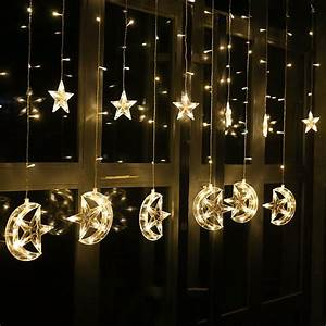 2, 5m, Led, Curtain, Star, Moon, Light, Ramadan, Decorations, Lights, For, Home, Party, Garden, Christmas