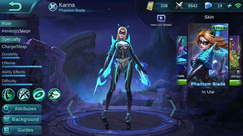basic karina guide mobile legends bang bang wikia guide