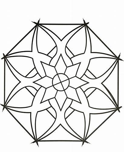 Mandala Coloring Mandalas Simple Pages Zen Adults