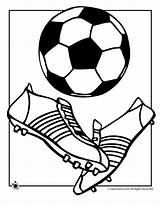 Soccer Coloring Ball Pages sketch template