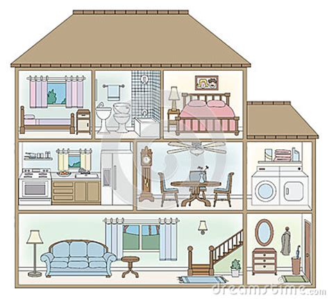 house cross section stock images image
