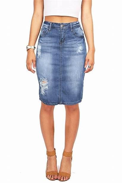 Denim Skirts Skirt Pencil Jeans Pink Juniors