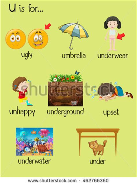 u is for umbrella stock images royalty free images 638 | stock vector many words begin with letter u illustration 462766360