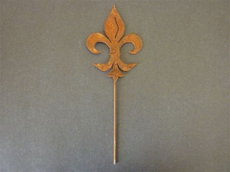 fleur de lis flower pot sticker