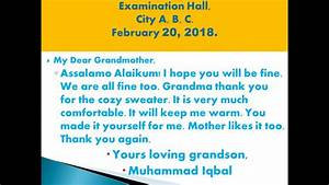 Write A Letter To Your Grandmother In Simple English