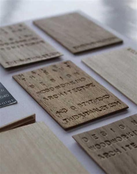 wood business cards laser engraved starting