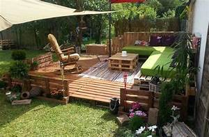 Comment Aménager Une Terrasse Extérieure : faire une terrasse en palette blog d co clem around the ~ Melissatoandfro.com Idées de Décoration