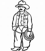 Cowboy Coloring Pages Picgifs sketch template