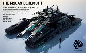 Futuristic Railgun Tank