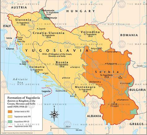 yugoslavia world map
