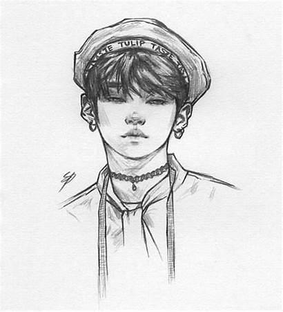 Drawings Kpop Stray Drawing Shooky Dough Minho