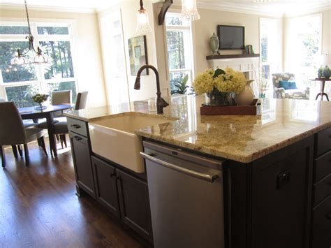 Kitchen Island With Dishwasher And Sink by Kitchen Island Ideas With Sink And Dishwasher Dishwasher