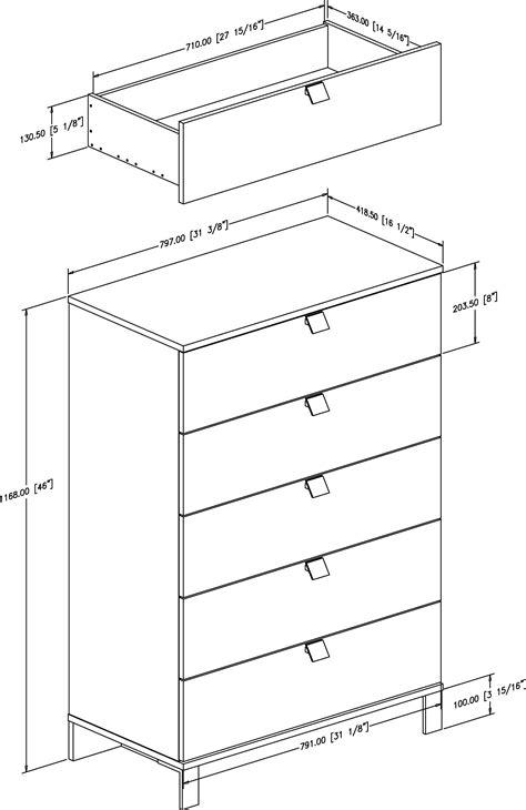 dresser plans by size