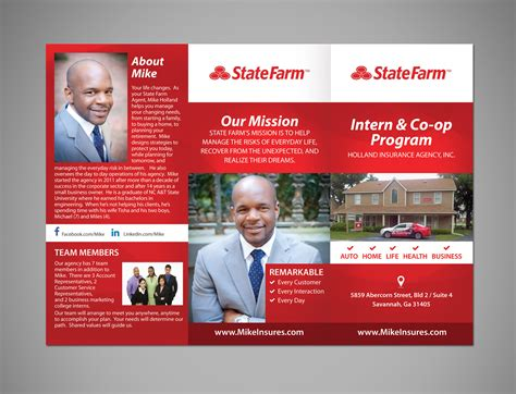 The small commercial market is a big opportunity for our members. Modern, Professional, Insurance Flyer Design for State Farm by Victor_pro   Design #8451378