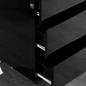 Regal Schwarz Hochglanz : b ro rollcontainer move schreibtisch regal aus holz hochglanz schwarz ebay ~ Markanthonyermac.com Haus und Dekorationen