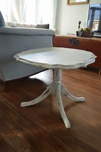 Table Grise Et Blanche : table caf shabby chic blanc gris et bois ~ Teatrodelosmanantiales.com Idées de Décoration