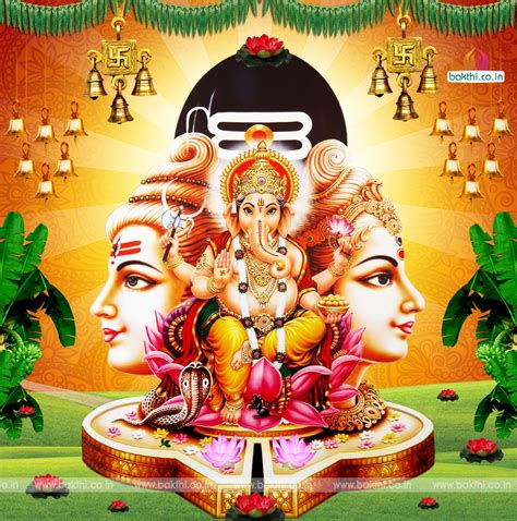 Hindu Gods Animated Wallpapers Free - hindu god vinayaka siva parvathi hd wallpaper free