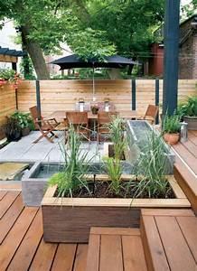 25 idees pour amenager et decorer un petit jardin With idee amenagement jardin paysager 0 idee de salon de jardin lounge sur terrasse pierre