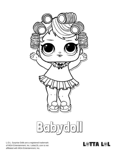 babydoll lol surprise doll coloring page lotta lol