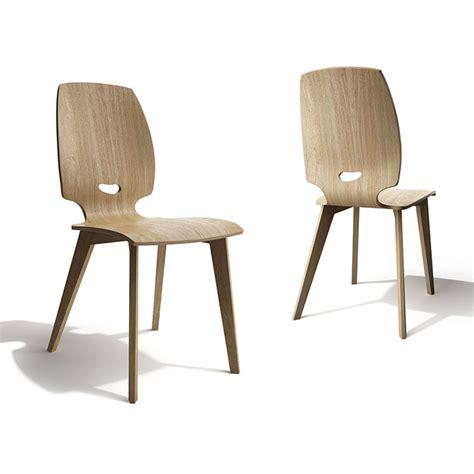 chaise design bois chaise de salle à manger design en bois finn mobilier