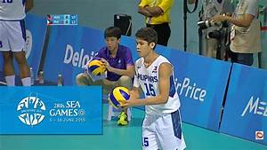 Volleyball Mens Preliminary Pool A Match 1 Malaysia vs ...