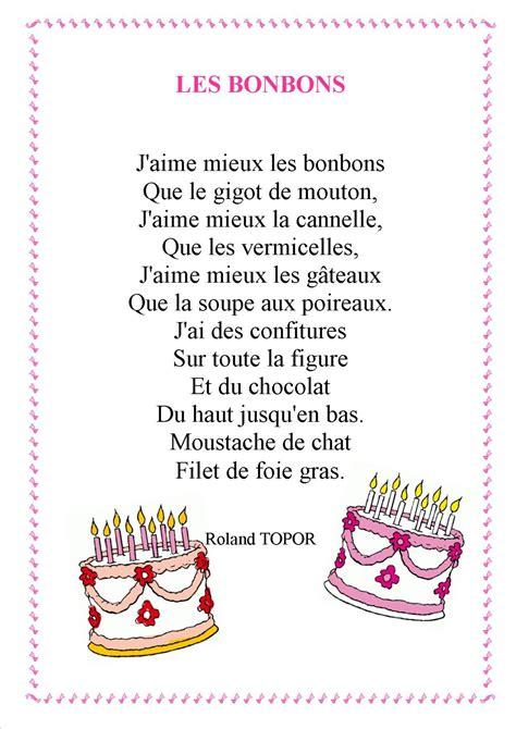 poeme cuisine comptines sur les gâteaux et les gourmandises laclassedelila