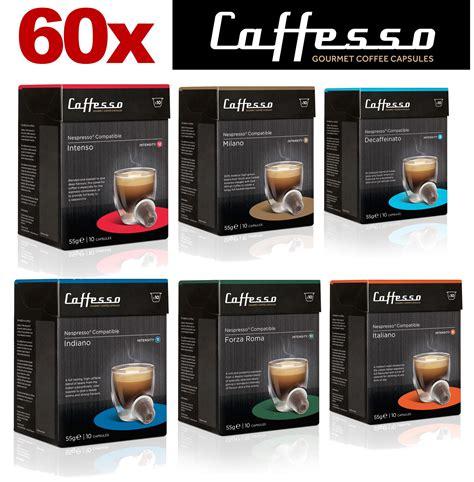 nespresso pack bureau 60 x caffesso nespresso compatible coffee capsules