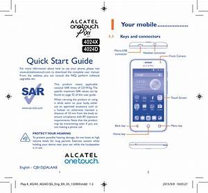 Manual - Alcatel One Touch Pixi First