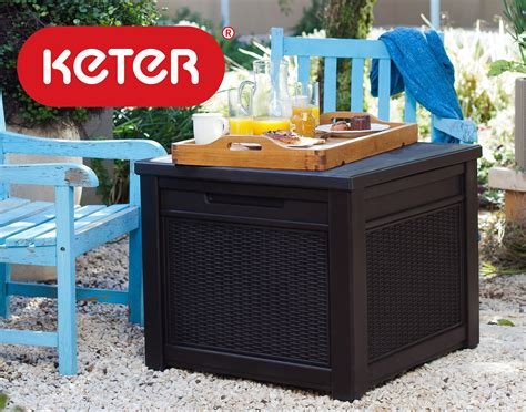Keter Glenwood Deck Box Assembly by Keter Pacific 30 Gal Outdoor Resin Wicker