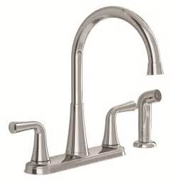 faucet for kitchen standard 9089501 002 angeline two handle kitchen faucet with spray polished