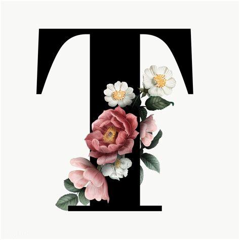 classic  elegant floral alphabet font letter
