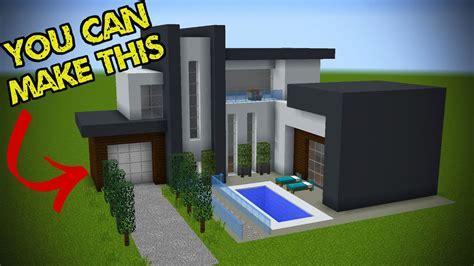 5 Easy Steps To Make A Minecraft Modern House Youtube