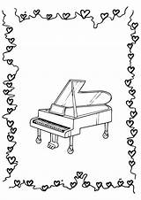 Piano Coloring Pages Printable Books Categories Similar sketch template
