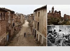 Spanish village of Belchite devastated in Spanish civil