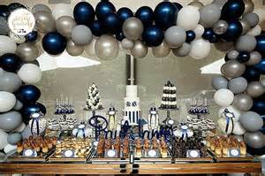 Baptism Decoration Ideas For Boy by Navy Blue Amp White Christening Little Wish Parties